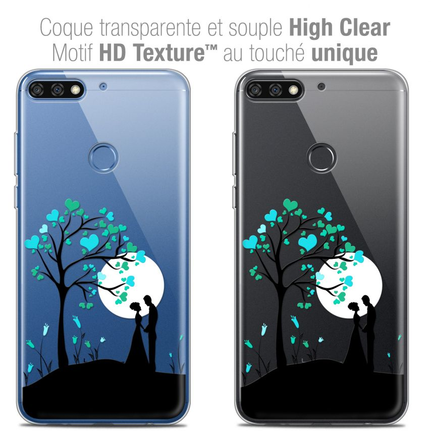 "Carcasa Crystal Gel Extra Fina Honor 7C (5.99"") Love Sous l'arbre"
