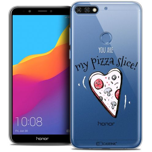 "Coque Crystal Gel Honor 7C (5.99"") Extra Fine Love - My Pizza Slice"