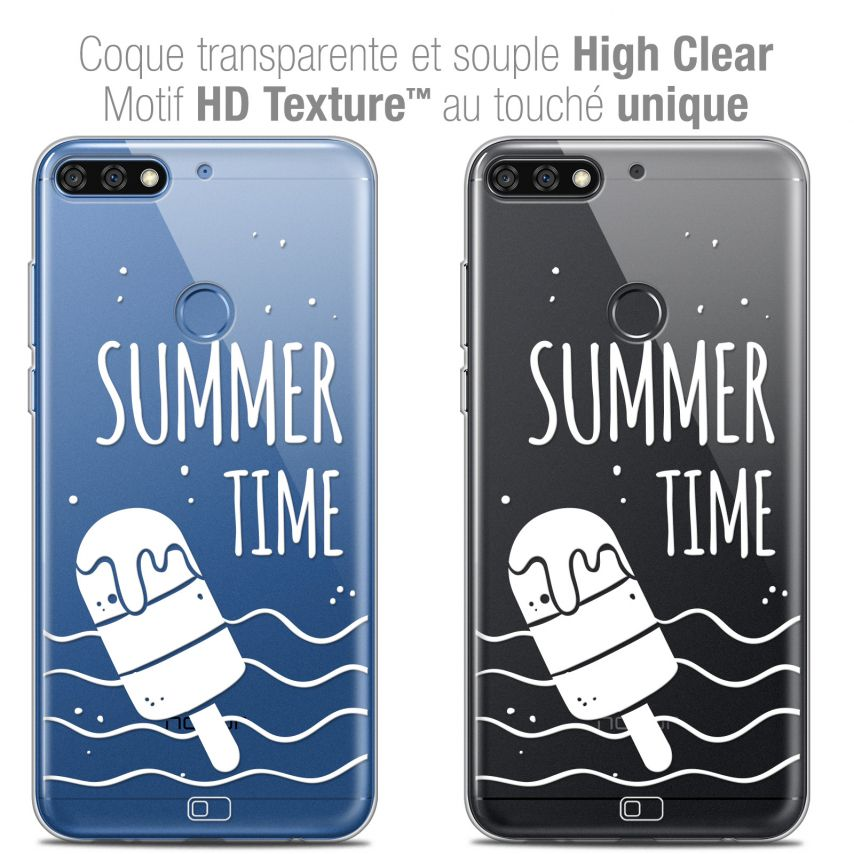 """Coque Crystal Gel Honor 7C (5.99"""") Extra Fine Summer - Summer Time"""