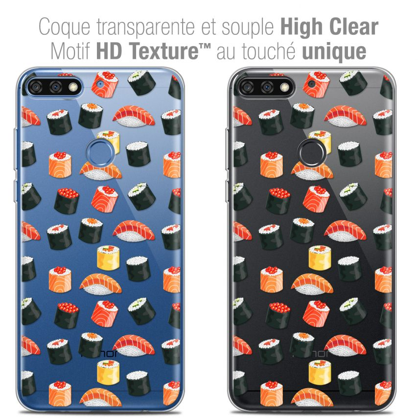 """Coque Crystal Gel Honor 7C (5.99"""") Extra Fine Foodie - Sushi"""