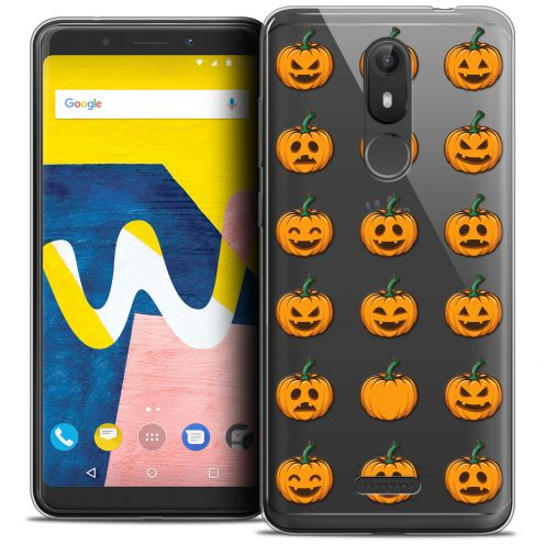 "Extra Slim Crystal Gel Wiko View LITE (5.45"") Case Halloween Smiley Citrouille"