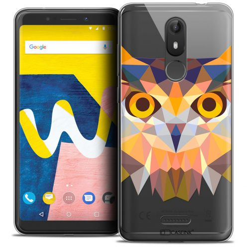 "Extra Slim Crystal Gel Wiko View LITE (5.45"") Case Polygon Animals Owl"