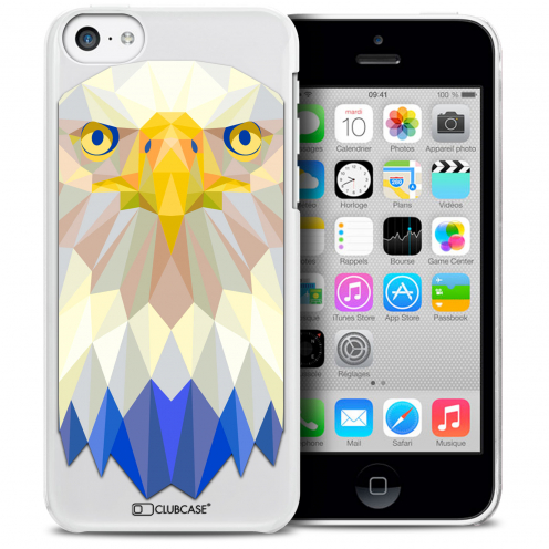Coque Crystal iPhone 5C Extra Fine Polygon Animals - Aigle