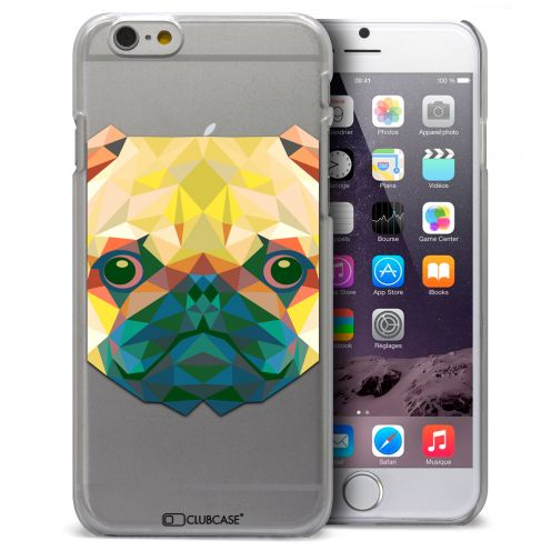Coque Crystal iPhone 6 Plus Extra Fine Polygon Animals - Chien