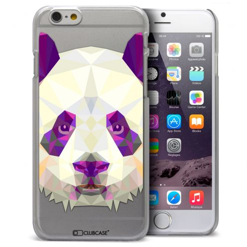 Coque Crystal iPhone 6 Plus Extra Fine Polygon Animals - Panda