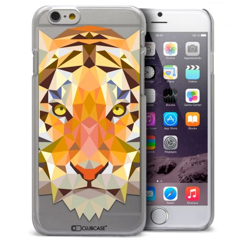 Coque Crystal iPhone 6 Plus Extra Fine Polygon Animals - Tigre