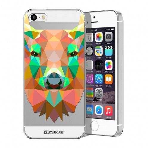 Coque Crystal iPhone 5/5S/SE Extra Fine Polygon Animals - Cerf