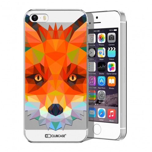 Coque Crystal iPhone 5/5S/SE Extra Fine Polygon Animals - Renard