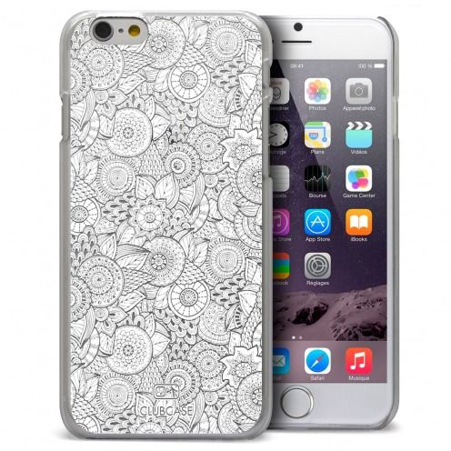 Coque Crystal iPhone 6 Plus Extra Fine Texture Dentelle Florale - Blanche