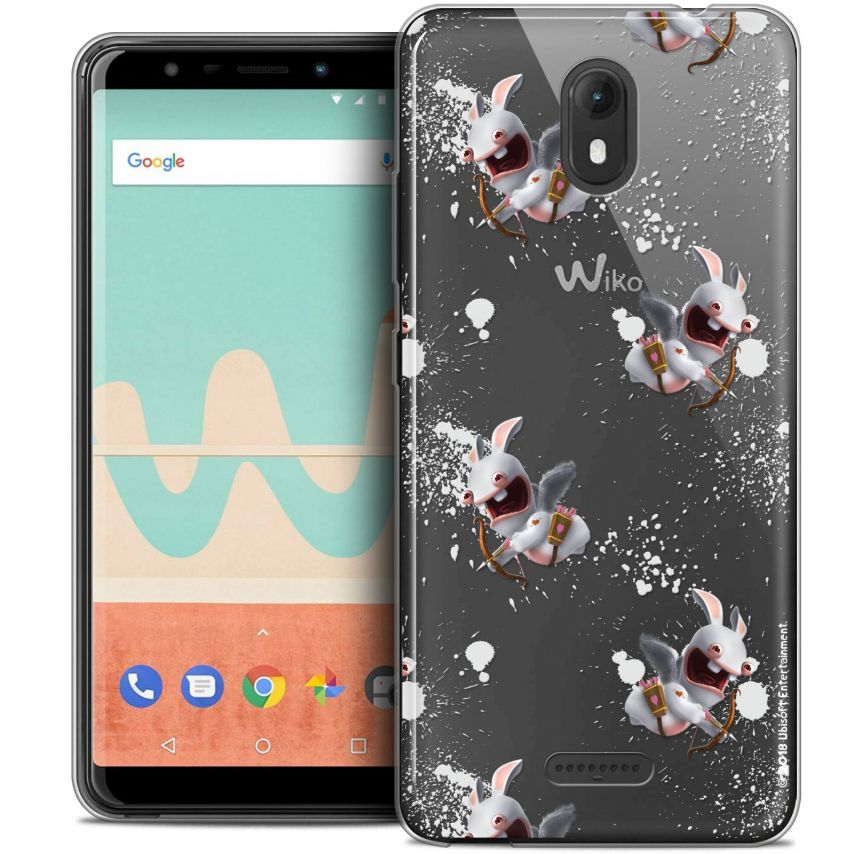 "Coque Gel Wiko View GO (5.7"") Extra Fine Lapins Crétins™ - Cupidon Pattern"