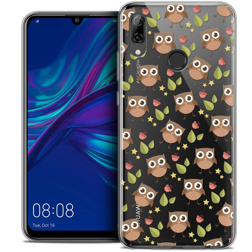 "Coque Crystal Gel Huawei P Smart 2019 (6.21"") Extra Fine Summer - Hibou"