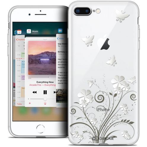 """Coque Crystal Gel Apple iPhone 7 Plus (5.5"""") Extra Fine Summer - Papillons"""