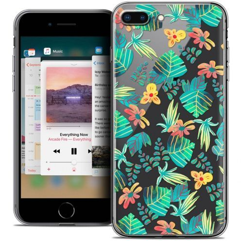 """Coque Crystal Gel Apple iPhone 7 Plus (5.5"""") Extra Fine Spring - Tropical"""