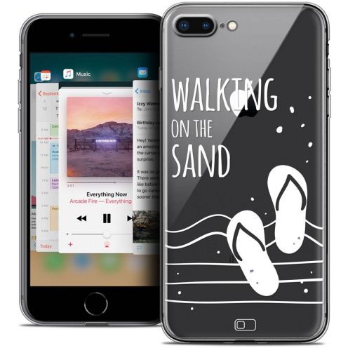 """Coque Crystal Gel Apple iPhone 7 Plus (5.5"""") Extra Fine Summer - Walking on the Sand"""