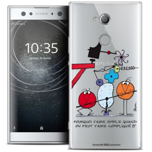 """Coque Gel Sony Xperia XA2 ULTRA (6"""") Extra Fine Les Shadoks® - Pourquoi faire Simple"""