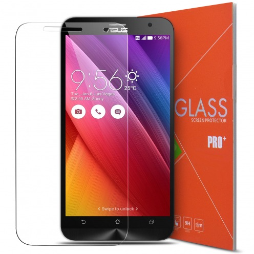 "Protection d'écran Verre trempé Asus Zenfone 2 5.0"" - 9H Glass Pro+ HD 0.33mm 2.5D"