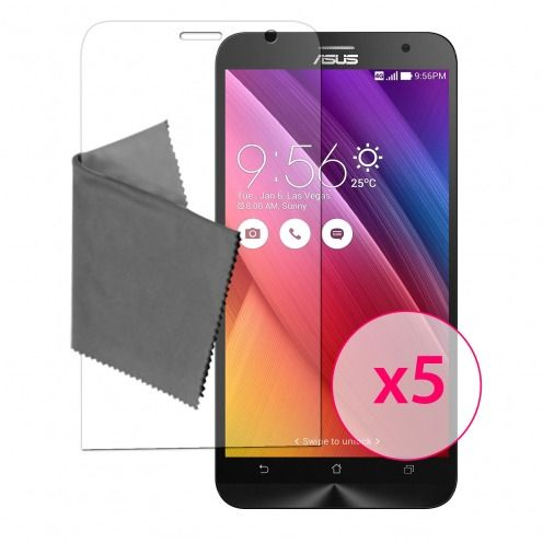 "Films de protection Asus Zenfone 2 (5.0"") Clubcase® 3H Ultra Clear HD Lot de 5"