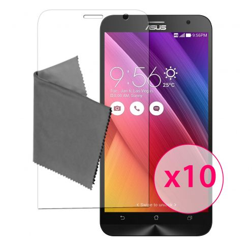 "Films de protection Asus Zenfone 2 (5.0"") Clubcase® 3H Ultra Clear HD Lot de 10"