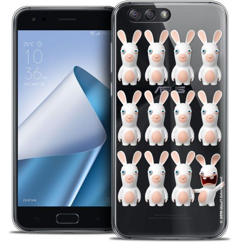 "Coque Gel Asus Zenfone 4 ZE554KL (5.5"") Extra Fine Lapins Crétins™ - Im ready Pattern"