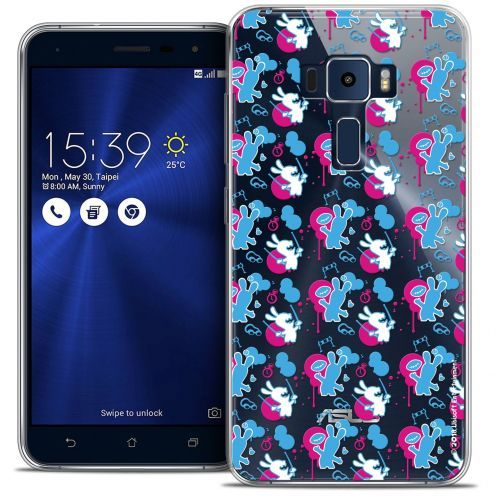 """Coque Gel Asus Zenfone 3 ZE552KL (5.5"""") Extra Fine Lapins Crétins™ - Rugby Pattern"""