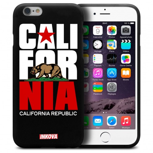 Coque iPhone 6 Plus / iPhone 6s Plus Inkova Extra Fine Noir California Republic