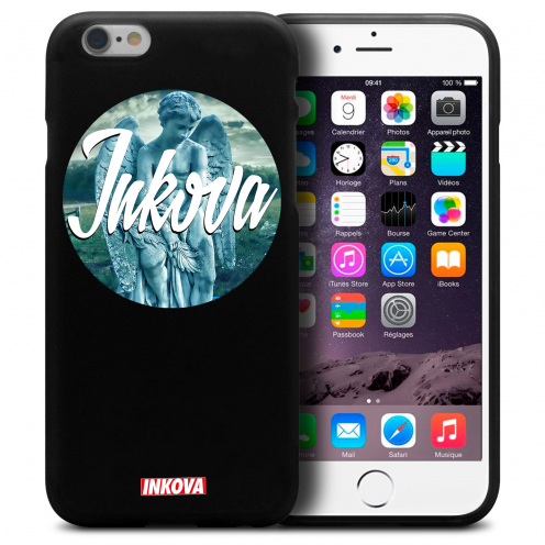 Coque iPhone 6 Plus / iPhone 6s Plus Inkova Extra Fine Noir Circle Angel