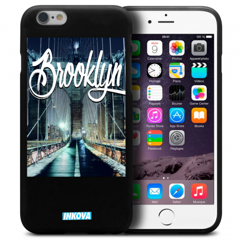 Coque iPhone 6 Plus / iPhone 6s Plus Inkova Extra Fine Noir City Brooklyn