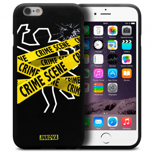 Coque iPhone 6 Plus / iPhone 6s Plus Inkova Extra Fine Noir Crime Scene