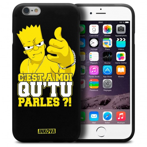 Coque iPhone 6 Plus / iPhone 6s Plus Inkova Extra Fine Noir Bart Made of Vinz