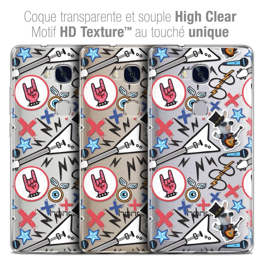 Coque Honor 5X Extra Fine Lapins Crétins™ - Rock Pattern