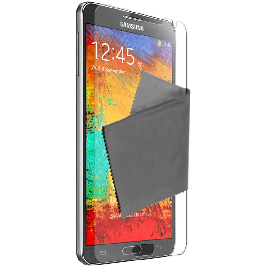 Visuel unique de Films de protection anti traces de doigts Galaxy Note 3 Clubcase ® Lot de 3