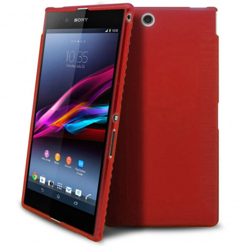 Coque Sony Xperia Z Ultra XL39H Frozen Ice Extra Fine Gel Rouge