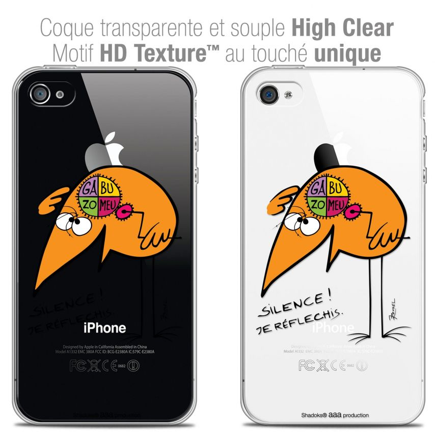 Coque iPhone 4/4s Extra Fine Les Shadoks® - Silence !