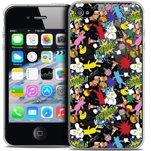 Coque iPhone 4/4s Extra Fine Lapins Crétins™ - Bwaaah Pattern
