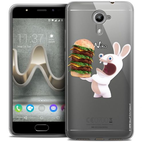 Coque Gel Wiko U Feel PRIME Extra Fine Lapins Crétins™ - Burger Crétin