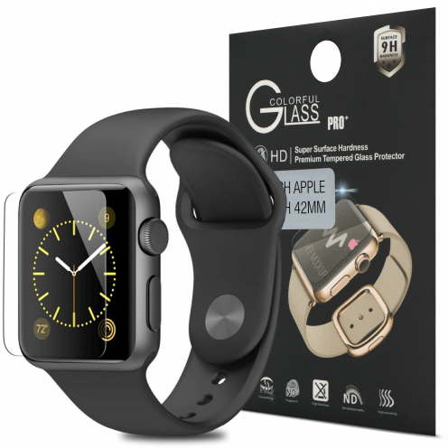 Protection d'écran Verre trempé Apple iWatch 42mm - 9H Glass Pro+ HD 0.33mm 2.5D