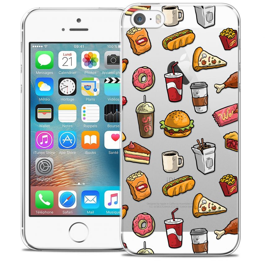 Coque Crystal iPhone 5/5s/SE Extra Fine Foodie - Fast Food