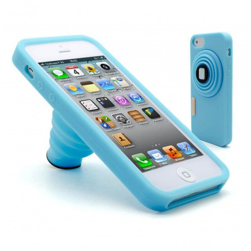 "Coque iPhone 5 Vintage ""PHOTO"" Bleue"