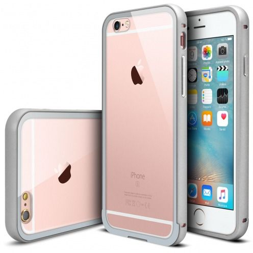 Bumper Apple iPhone 6s/6 Plus (5.5) Glass Aluminium Argent
