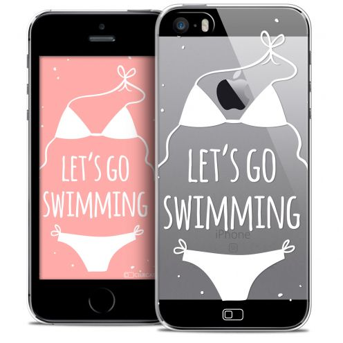Coque Crystal iPhone SE/5/5s Extra Fine Summer - Let's Go Swim