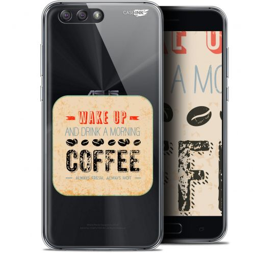 "Coque Gel Asus Zenfone 4 ZE554KL (5.5"") Extra Fine Motif - Wake Up With Coffee"