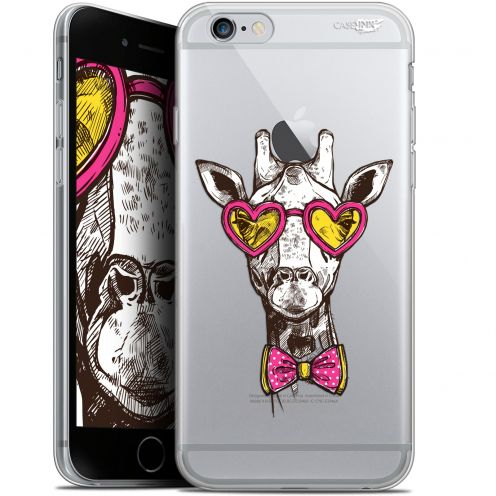 "Coque Gel Apple iPhone 6 Plus/ iPhone 6s Plus (5.5"") Extra Fine Motif - Hipster Giraffe"