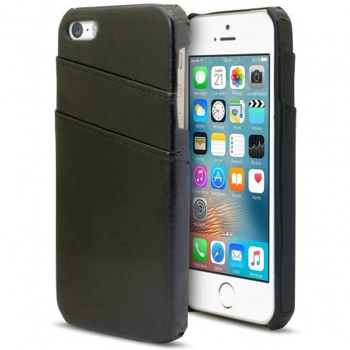 Coque Apple iPhone SE/5s/5 Business Series Porte-Carte Arrière Noir