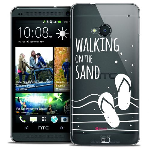 Coque Crystal HTC One (M7) Extra Fine Summer - Walking on the Sand
