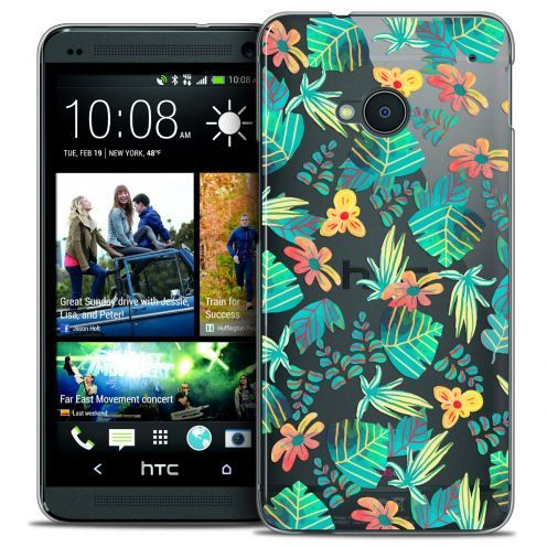 Carcasa Crystal Extra Fina HTC One (M7) Spring Tropical