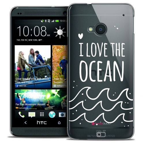 Carcasa Crystal Extra Fina HTC One (M7) Summer I Love Ocean