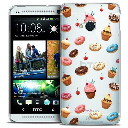 Extra Slim Crystal HTC One (M7) Case Foodie Donuts