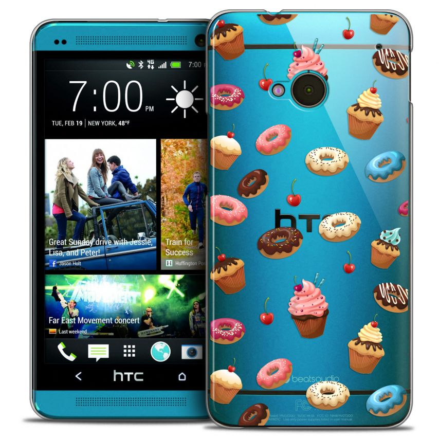 Coque Crystal HTC One (M7) Extra Fine Foodie - Donuts