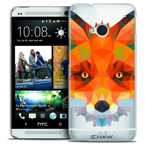 Carcasa Crystal Extra Fina HTC One (M7) Polygon Animals Zorro