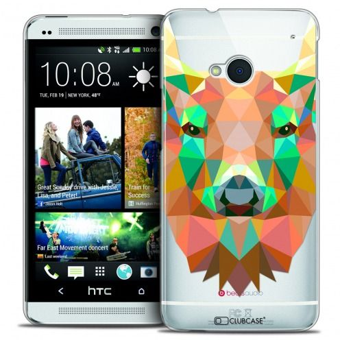 Extra Slim Crystal HTC One (M7) Case Polygon Animals Deer